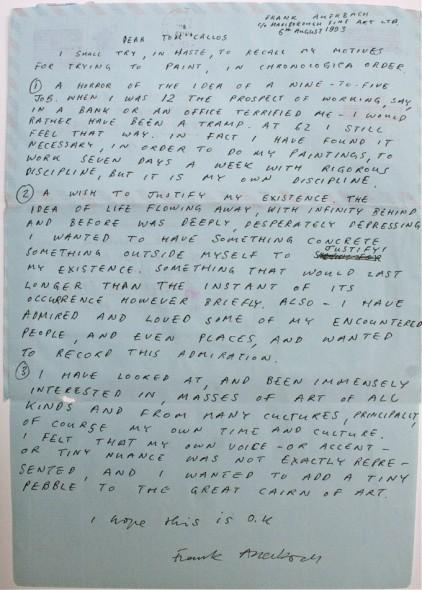 Frank's letter