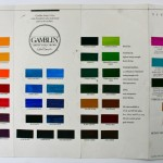 The original hand-painted Gamblin colour chart